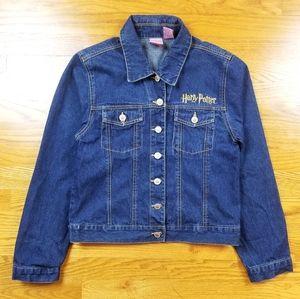 Harry Potter Embroidered Logo Denim Jeans Jacket